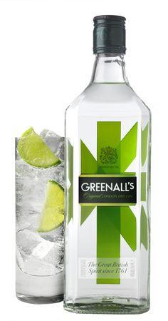 greenall's gin packaging