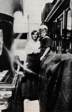 Tsarevich Alexei Nikolaevich Tomanov of Russia with his sister Grand Duchess Tatiana Nikolaevna Romanova of Russia.A♥W