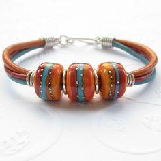 Like this Boho style bracelet. The beads are beautiful.