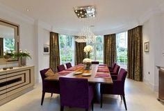 purple chairs #diningroom