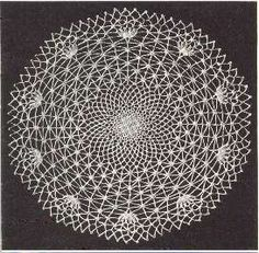 Vintage Spider Web Doily, fantastic art when stiffened and hung on canvas