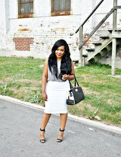 neutrals only (My Voguish Diaries) Short Girl Fashion, Curvy Fashion, Fashion Beauty, Fashion Looks, Womens Fashion, Work Chic, Fall Looks, Short Girls, Amazing Women