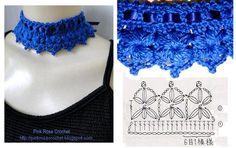 Colar+Golinha+Azul+Marinho+Crochet+Collar-+gr.PNG 703×442 ピクセル