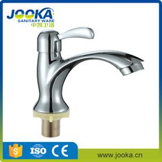 New Design Cold Water Tap Cheap Chromed Polished Basin Faucet Water Tap Basin Faucet