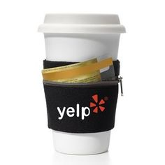 Cuff Cup Sleeve & Wallet - No pockets, no problem with the Cuff. It's a fitness wallet that holds money, keys, credit cards, hotel cards, etc. while you're on the go and doubles as a coffee sleeve after your workout.