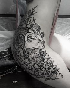 Cute thigh tattoos, badass tattoos, leg tattoos, body art tattoos, tattoo on Cute Thigh Tattoos, Hip Tattoos Women, Badass Tattoos, Sexy Tattoos, Body Art Tattoos, Sleeve Tattoos, Tatoos, Arlo Tattoo, Sheep Tattoo