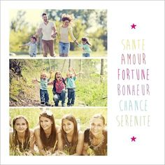 Carte de vœux arc-en-ciel. Disponible en 4 formats et à personnaliser sur Popcarte.com