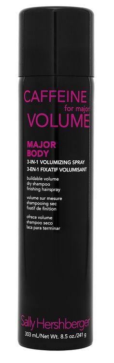 """I love dry shampoo, regular hair spray, and volumizing products — so when I found out Sally Hershberger Major Body 3-in-1 Volumizing Spray ($13) had all three, I was ready to make it a vanity staple. The best part: it contains one of my favorite ingredients — caffeine — to """"wake up"""" strands. Coffee for your hair? Yes, please. — LL"""