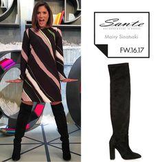 Mairy Sinatsaki (@mairiboo) in SANTE Over the Knee boots styling by Aris Georgiadis (@arisgeorgiadis) #SanteFW1617 #CelebritiesinSante Available in stores & online (SKU-93991): www.santeshoes.com