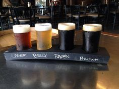 Have your beer flight... without the guessing. New custom made flight boards, made from our own barrels, are done. Lucky Bucket Brewing Company