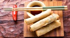 Vegetable Spring Rolls With Soy Sauce