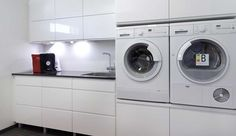 Stacked Washer Dryer, Washer And Dryer, Washing Machine, Laundry, Home Appliances, Google, Laundry Room, House Appliances, Laundry Service
