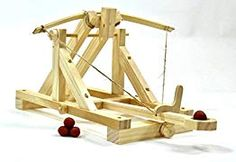 How to build the backyard ogre catapult. It is two feet long, easy to build, and powerful. Catapult Diy, Stem Skills, Hobby Kits, Pen Blanks, Craft Shop, Science For Kids, Vinyl Lettering, Wooden Toys, Inventions