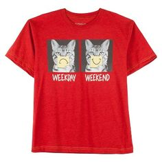 Boys' Humor Kitten Graphic T-Shirt