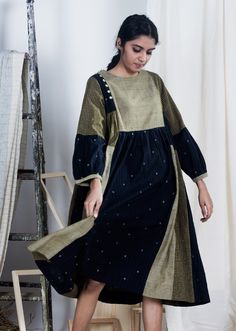 Pakistani Outfits, Indian Outfits, Simple Kurtis, Cotton Long Dress, Dress Sewing Patterns, Handmade Clothes, Mix Match, Passion For Fashion, Sustainable Fashion