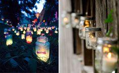 Barattoli lanterne fai-da-te