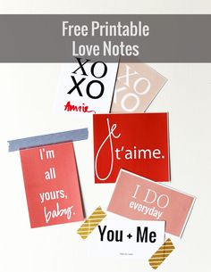 Free printable love notes to leave for your sweetheart year round.