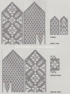 New Knitting Mittens Chart Free Pattern Ideas Knitted Mittens Pattern, Fair Isle Knitting Patterns, Knit Mittens, Knitting Charts, Knitted Gloves, Knitting Stitches, Knitting Socks, Knitting Designs, Free Knitting