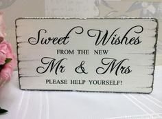 Wedding candy bar/sweet table free-standing tablesign, vintage distressed in Other Wedding Supplies Wedding Candy Table, Sweet Table Wedding, Diy Wedding Food, Wedding Sweets, Wedding Signs, Wedding Ideas, Wedding Inspiration, Wedding Candy Buffet, Wedding Reception