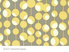 Amy Butler Fabric Gray Grey Yellow Martini Midwest Modern Line 1 yard Amy Butler Fabric, Fabric Display, Nursery Inspiration, Nursery Ideas, Room Ideas, Shipping Envelopes, Yellow Nursery, Quilt Sets, Grey Yellow