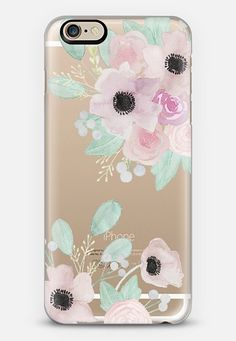 Anemones + Roses iPhone 6 case by quinn luu | Casetify