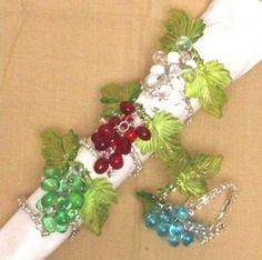 Bead Grapes Napkin Rings