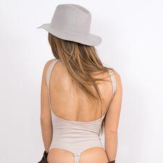 Tan Cotton Bodysuit - Disruptive Youth