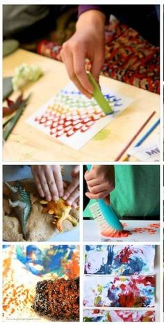 Printmaking for kids: 13 creative ways to print with kids. Totally fun. ~ via Lessons Learnt Journal