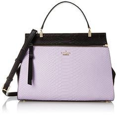 kate spade new york Shaw Street Kegan Top Handle Bag, Black/Crystal Violet