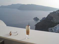 Coffee, Ray Bans and Santorini.....  SIGH