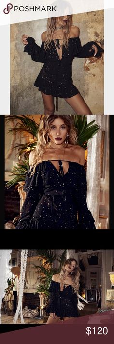 SOLD OUT! Rat and Boa Black Luina Dress Brand new with tags! If you're feeling star spangled vibes this festive season then look no further than The Luina Dress. The kind of dress that will be keeping you up all night, shimmer and shine in this frilly number. Rat and Boa Dresses