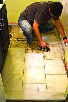 How to lay tile for a bathroom shower tub surround do it yourself marble tile installation how to lay tile down solutioingenieria Images