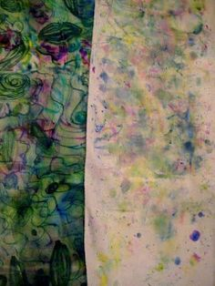 Sharpie and alcohol mist on silk... surface design AND info on transferring color from silk ties to scarves!