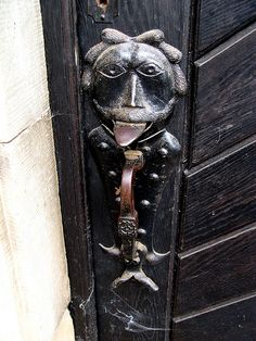 Unique door hardware at Haemelschenburg Castle, Germany.