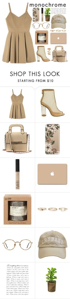 """""""1st set here we go!"""" by tooprada ❤ liked on Polyvore featuring Casetify, NARS Cosmetics, 3M, Le Labo, Warehouse, GlassesUSA, StreetStyle, monochrome and contestentry"""