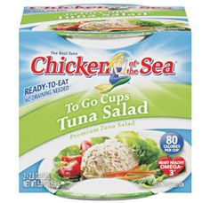 Great taste without all the work! Tuna Salad To Go Cups, Two-Pack, 5.60 oz.