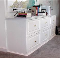 Sculpture of Files Organizer Ideas for Your Home Office with IKEA Wood Filing Cabinets