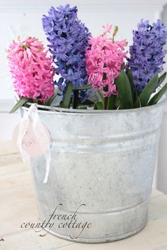 4 times a simple bucket filled with flowers was perfect -  I have a small…