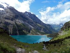 """Lake Oeschinensee"" Swiss Alps Jungfrau-Aletsch"