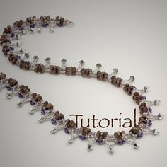 Farfalle Seed Bead and Crystal Necklace Tutorial by JewelryTales