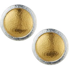 Gurhan Amulet Round Button Earrings ($210) ❤ liked on Polyvore featuring jewelry, earrings, silver gol, round earrings, 24 karat gold jewelry, button earrings, 24-karat gold jewelry and 24k earrings