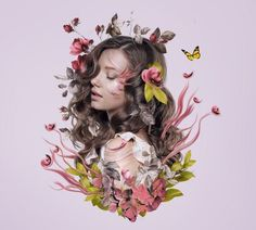 How to Create a Floral Portrait Photo Manipulation in Adobe Photoshop Design Envato Tuts Design & Illustration Adobe Photoshop, Tutorial Photoshop, Photoshop Photos, Photoshop Illustrator, Illustrator Tutorials, Photoshop Design, Photoshop Photography, Photoshop Actions, Modern Photography