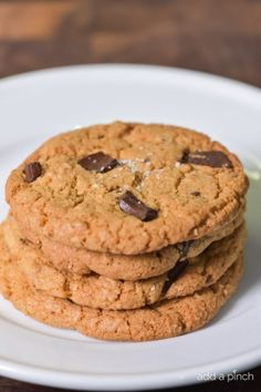 Brown Butter Dark Chocolate Chunk Cookies Recipe • Cooking | Add a Pinch