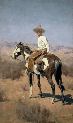 Image detail for -Vaquero 1890 | Frederic Remington | Oil painting reproductions