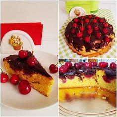 Femeie Astazi - Donna Oggi - Woman Today: Torta alle ciliegie e cioccolato / Prajitura cu ci... My Recipes, Waffles, Cheesecake, Cherry, Cakes, Breakfast, Instagram Posts, Desserts, Food