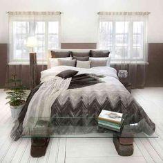 RYTMI - klassinen siksak maanläheisissä väreissä. #lennol #makuuhuone #siksak