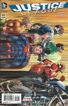 DC Justice League comic issue 50 Limited variant