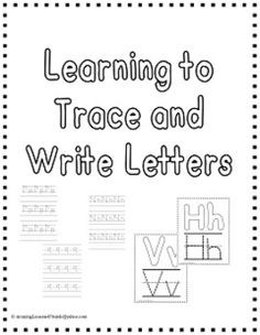 Learning to Trace and Write letters:  Here is a wonderful file to add to your writing center and a send homework that the kids can work on with parents.