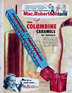 MacRobertson Columbine Caramels ~ Australia (year unknown).