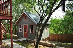 Cottage Studio | A 14×14 crafting cottage and playroom. Designed and built by Kanga Room Systems.